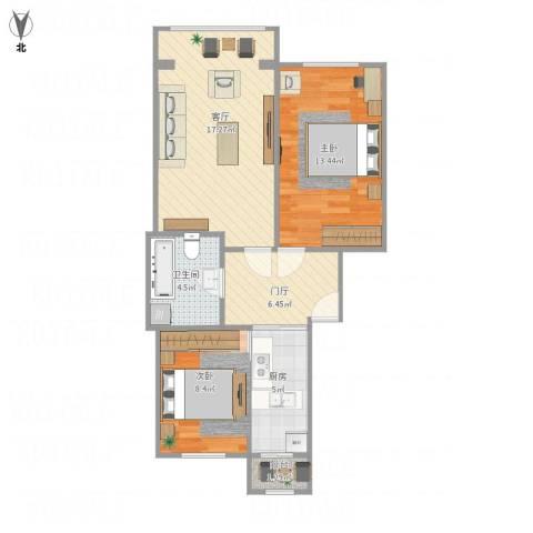 高法家属楼2室1厅1卫1厨85.00㎡户型图