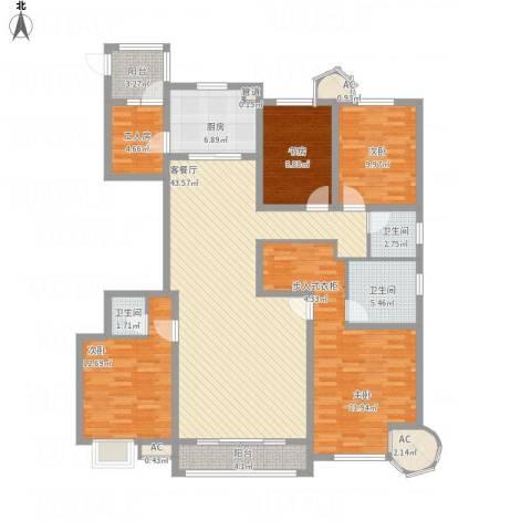 建邦华庭4室1厅3卫1厨187.00㎡户型图