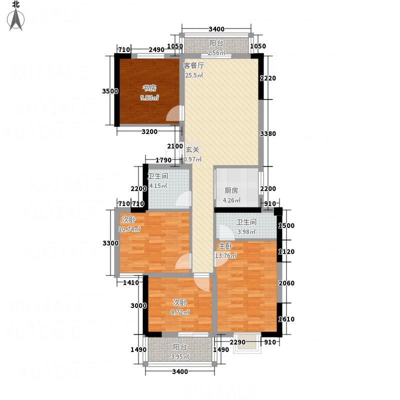 亿龙・福星城121.17㎡5-D户型4室2厅2卫1厨