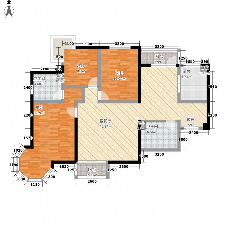 天润铂城户型3室2厅