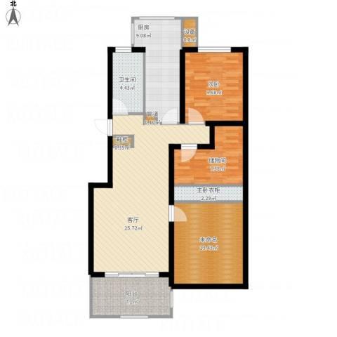 申亚瑞庭1室1厅1卫1厨115.00㎡户型图