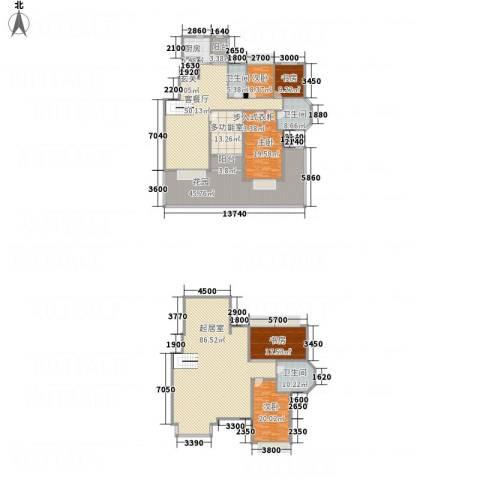 锦联・经典名郡5室1厅3卫1厨428.00㎡户型图