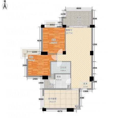 文泉翠满庭2室1厅1卫1厨91.93㎡户型图