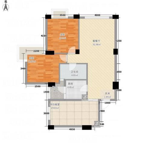 文泉翠满庭2室1厅1卫1厨82.91㎡户型图