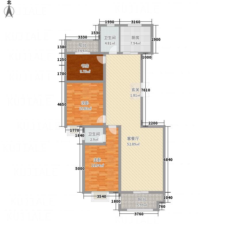金玉花园732173.25㎡7#H户型3室2厅2卫1厨