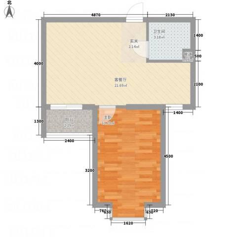 溪林湾・东方新天地1室1厅1卫0厨40.98㎡户型图