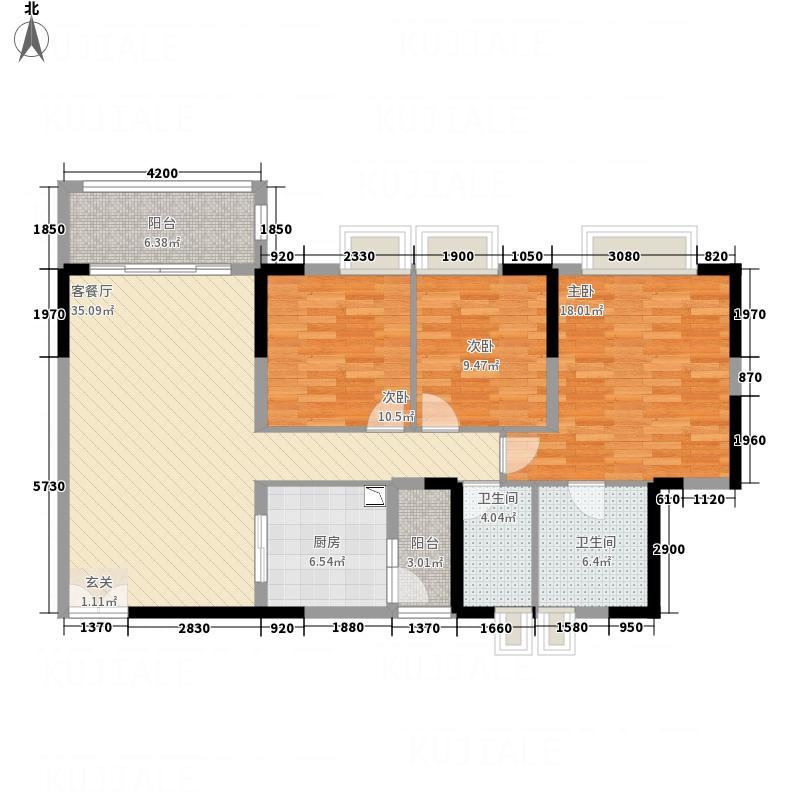 东方豪庭2.20㎡雅阁D栋2―22层04户型
