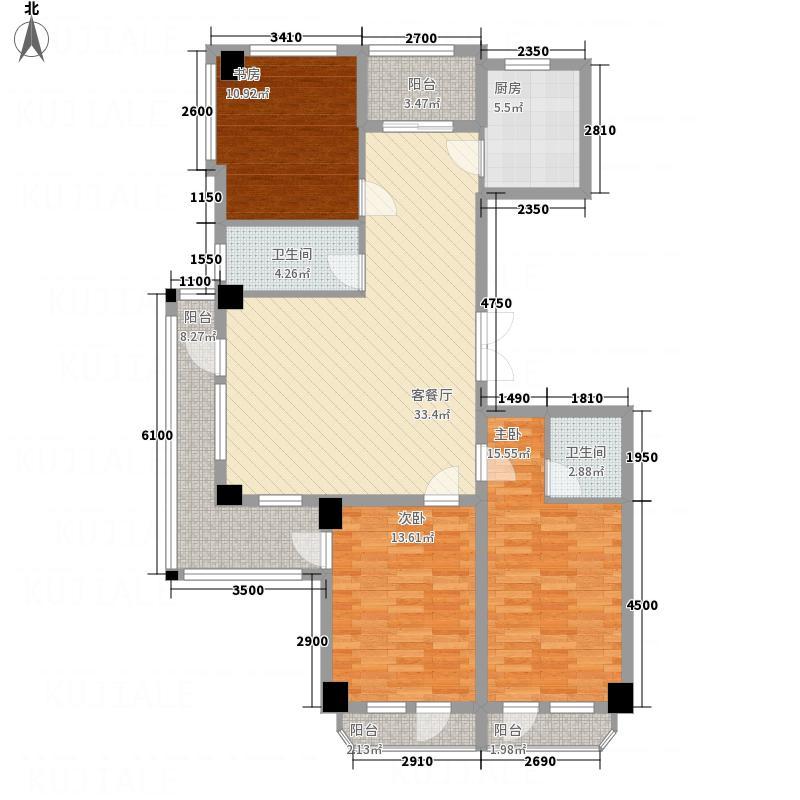 翔峰・财富海景136.10㎡5#F1户型2室2厅2卫1厨