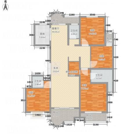 千禧・御东画卷4室1厅3卫1厨152.80㎡户型图