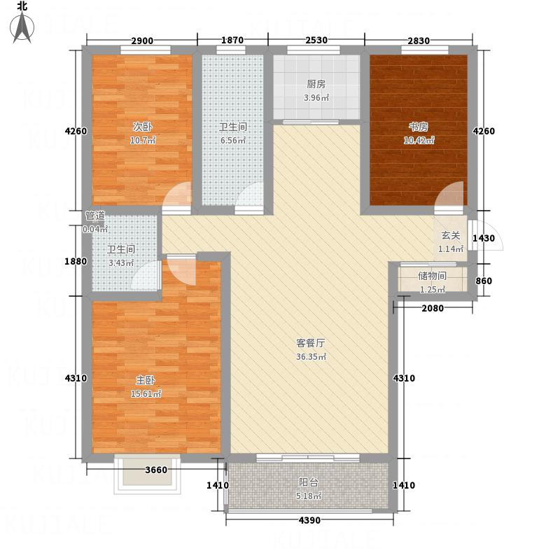��国际134.00㎡c户型3室2厅2卫
