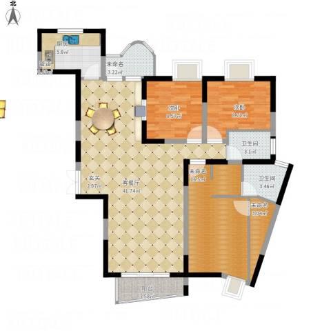 金星家园2室1厅2卫1厨140.00㎡户型图
