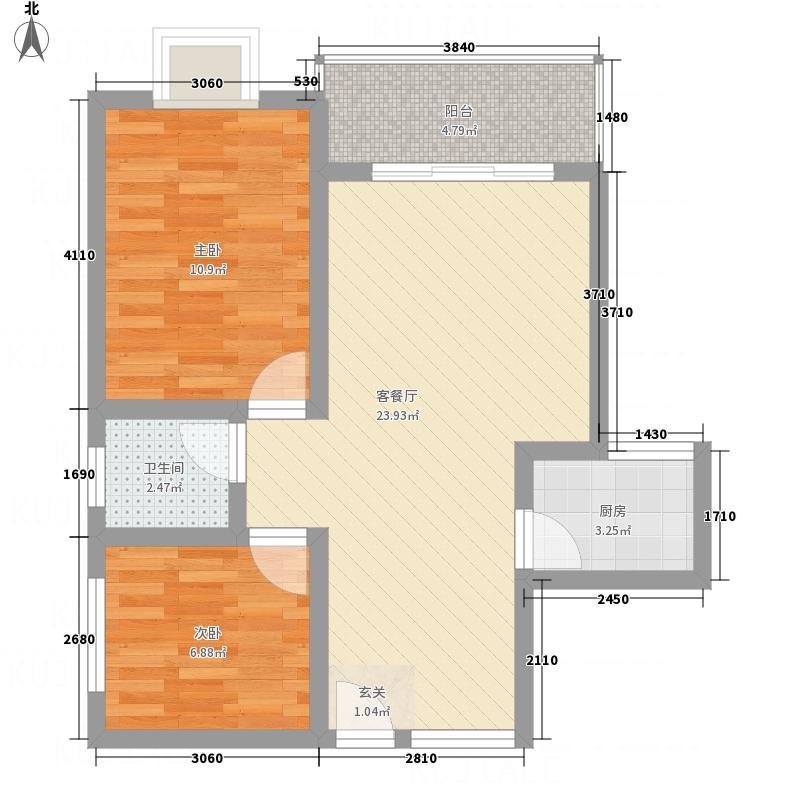 二环新村76.00㎡户型2室