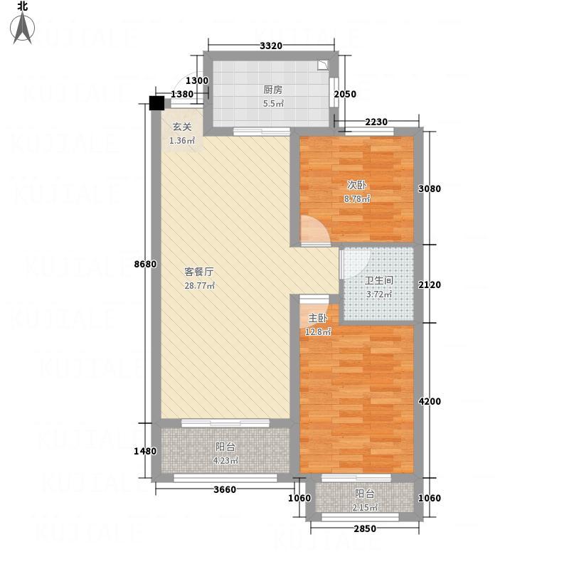 双企・龙城国际14#二居室2户型