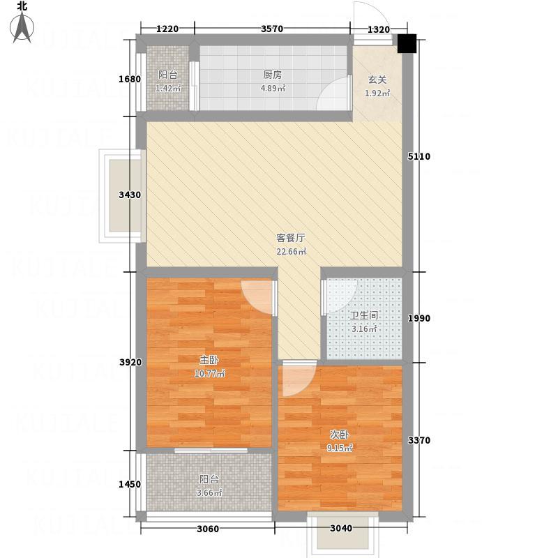 双企・龙城国际14#二居室1户型