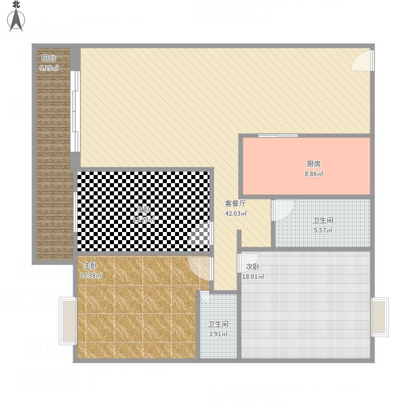 上丹小区138.96m三房两厅