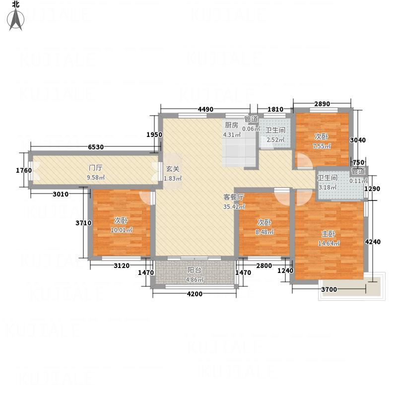 乐清中梁・首府138138.20㎡户型4室2厅2卫