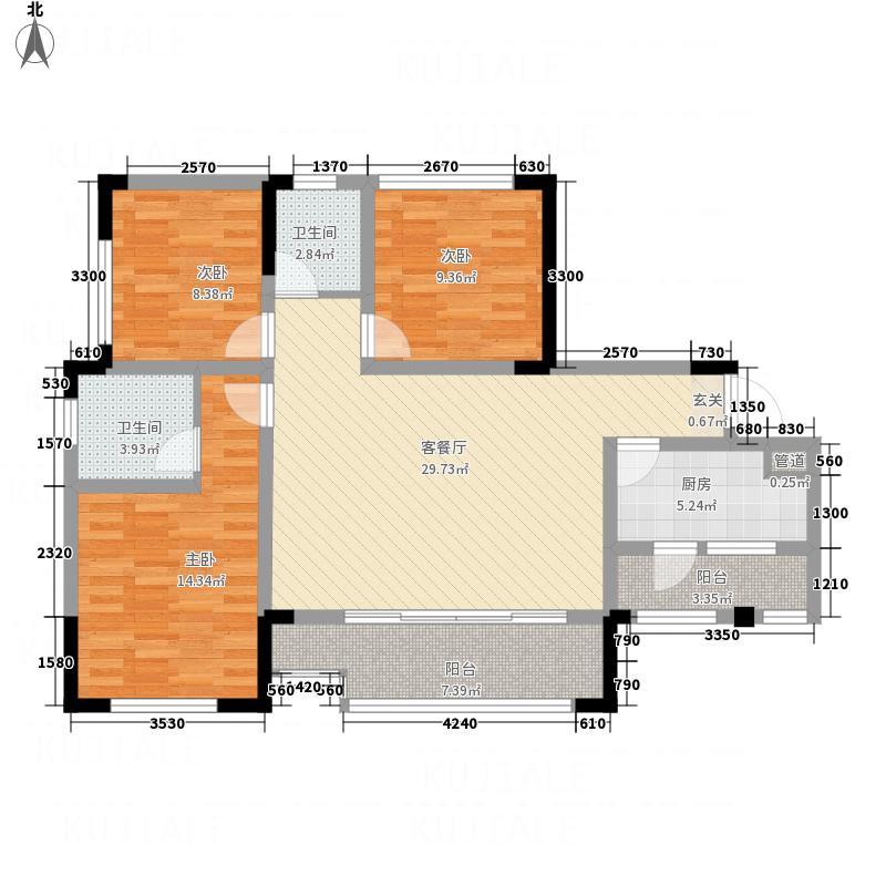 三江国际丽城C区澜岸15.00㎡C区澜岸E户型3室2厅2卫1厨