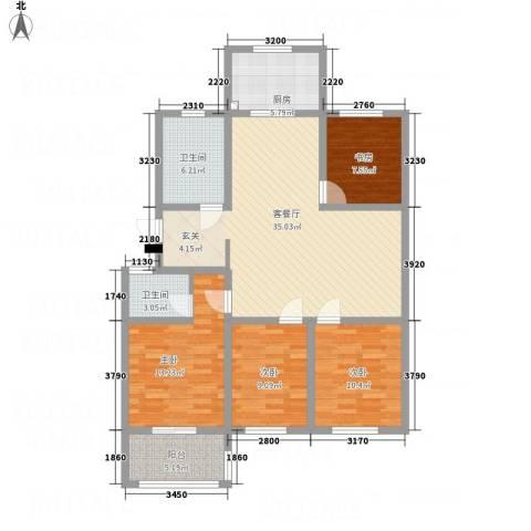 一品名郡4室1厅2卫1厨138.00㎡户型图