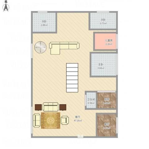 华景西苑4室2厅1卫1厨87.00㎡户型图