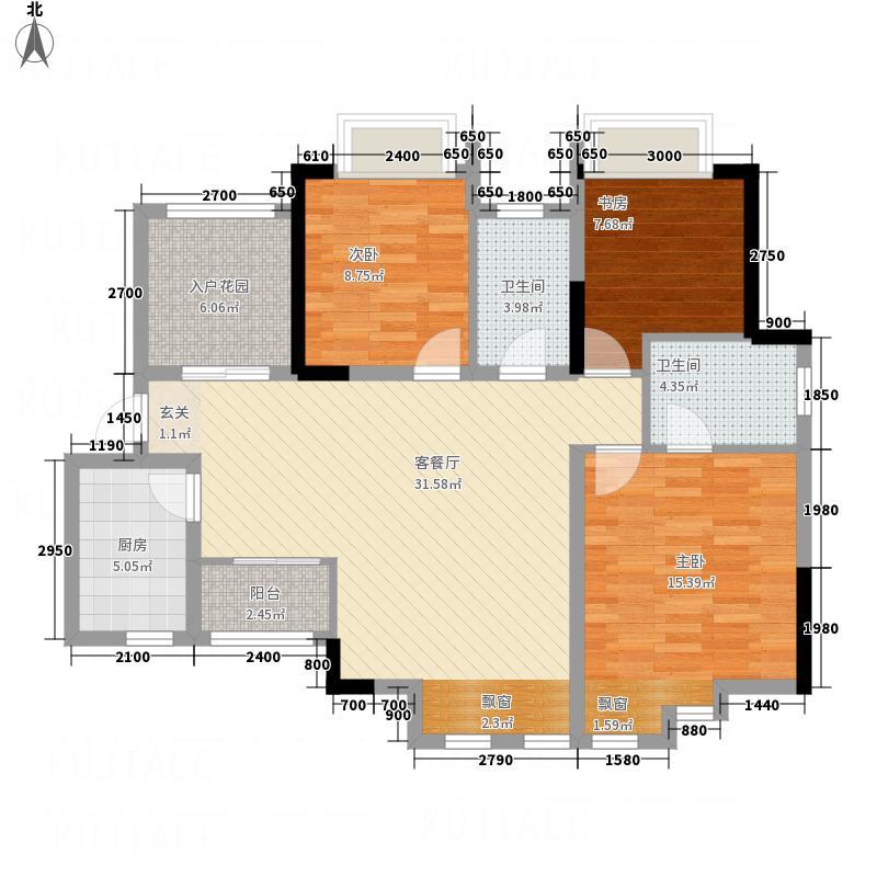 中毫上层上品18.35㎡C户型3室2厅2卫1厨