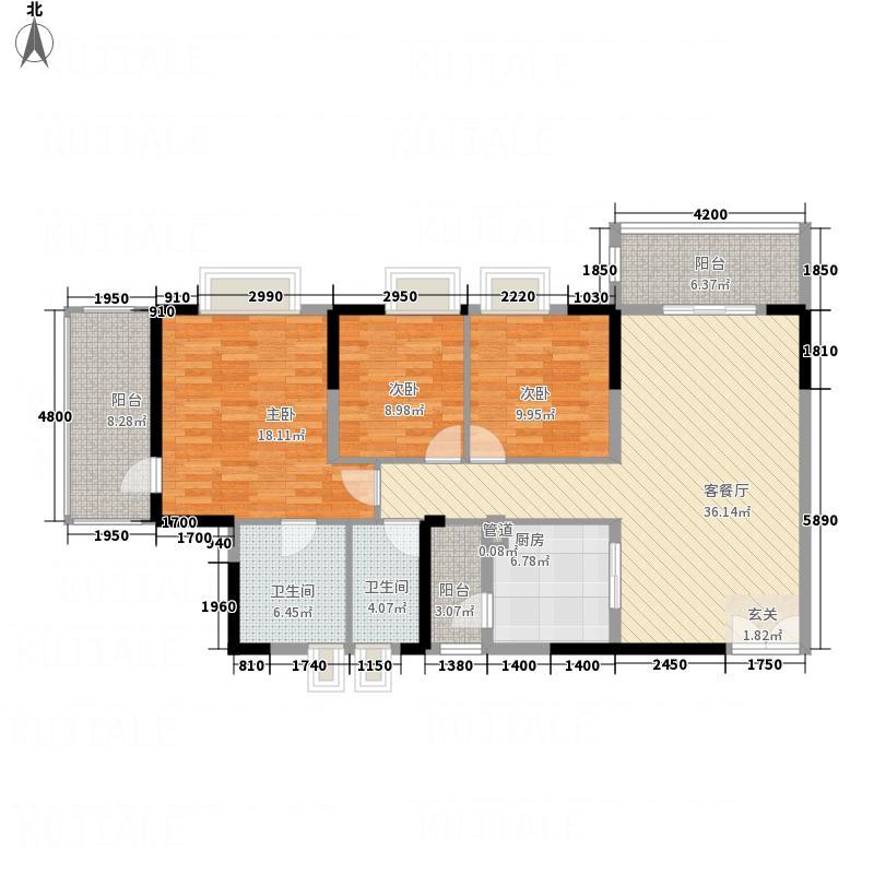 东方豪庭43141.52㎡C4雅阁户型3室2厅2卫1厨