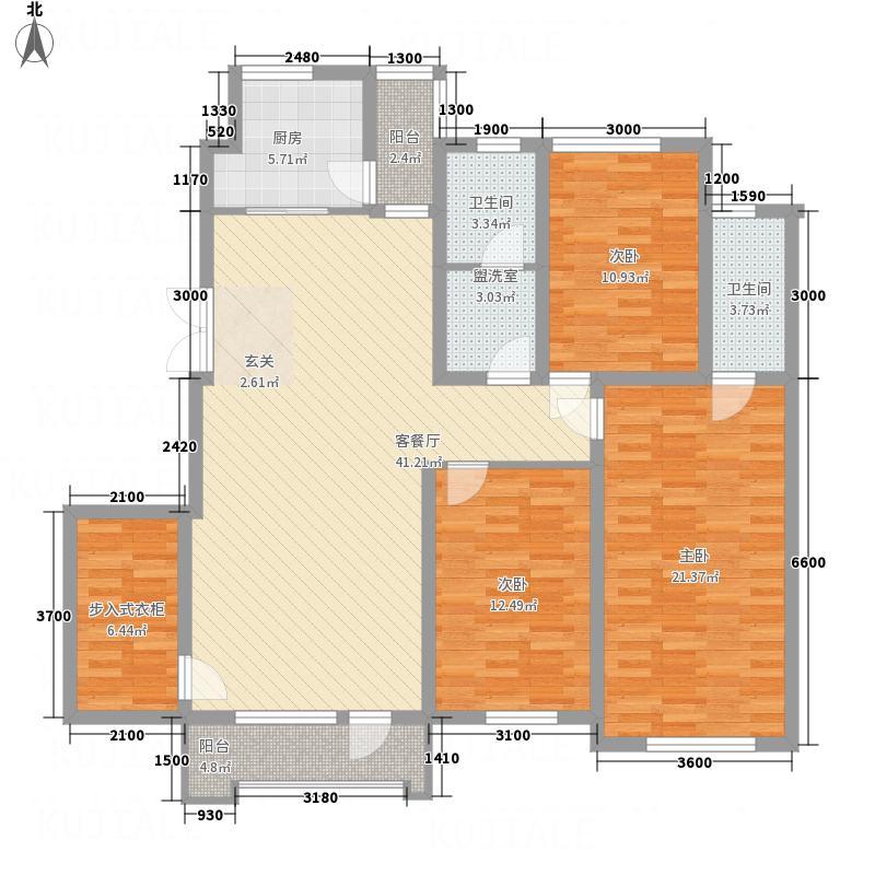 中体奥林匹克花园3室2厅2卫1厨115.45㎡户型图