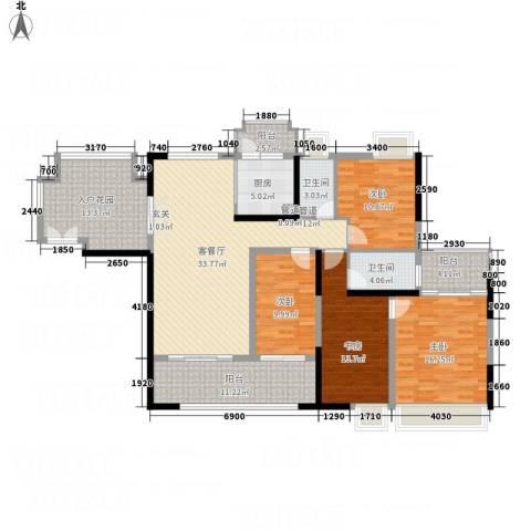 城市假日E区4室1厅2卫1厨128.19㎡户型图