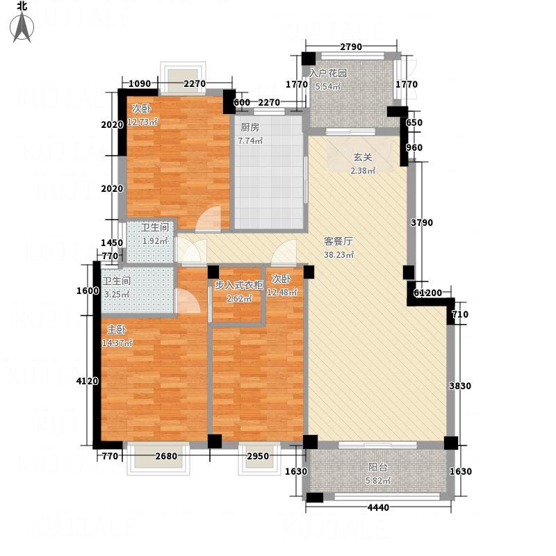 百德畔山云海147.00㎡9#、10#1、2梯01-02单元户型3室2厅2卫1厨