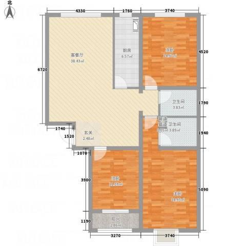 武阳秀美3室1厅2卫1厨143.00㎡户型图