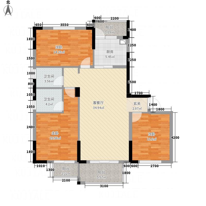 金石华府141713.22㎡14#17#A户型3室2厅2卫1厨