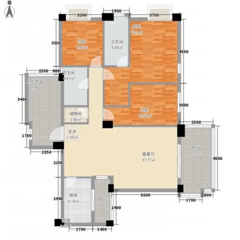 文泉翠满庭3室1厅2卫1厨144.00㎡户型图