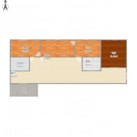 三棵小区4室1厅1卫1厨212.00㎡户型图