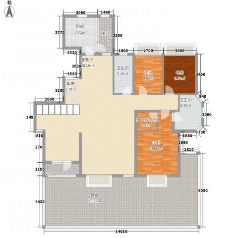 锦联・经典名郡3室1厅2卫1厨264.00㎡户型图