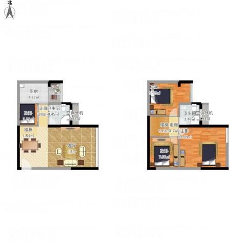 融创伊顿濠庭4室1厅2卫1厨125.00㎡户型图