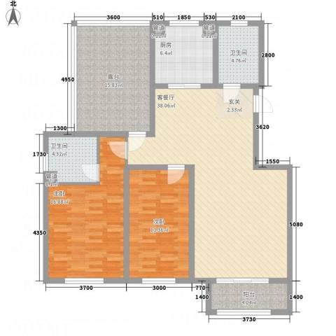 七里河・佳洲美地2室1厅2卫1厨115.00㎡户型图