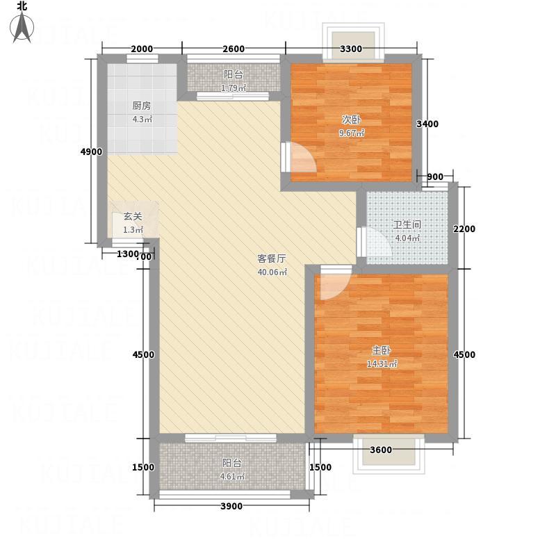 江山星园户型2室