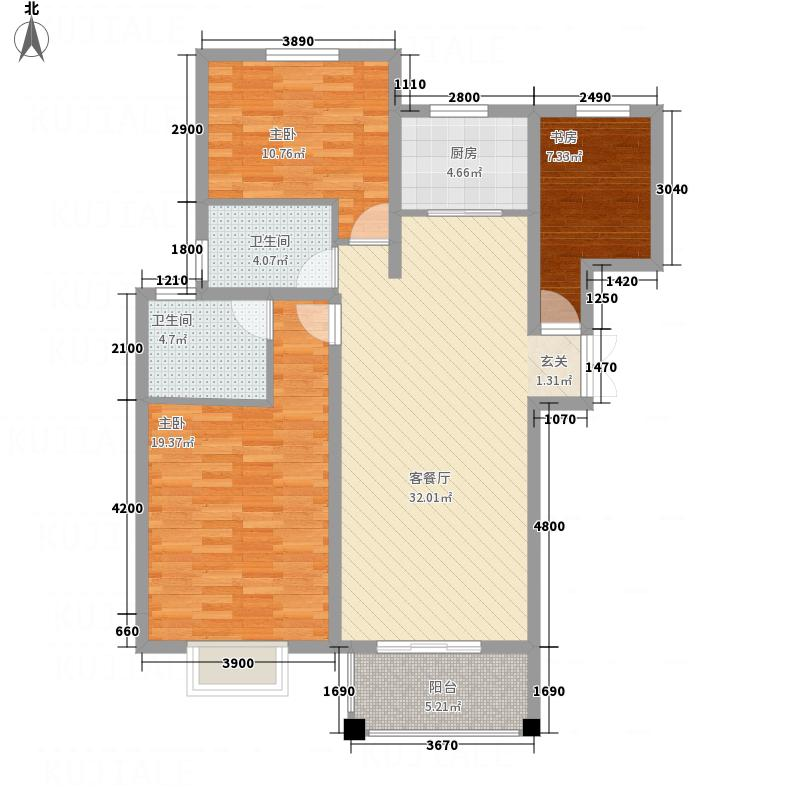 润城・公园印象126.77㎡11户型3室2厅2卫1厨