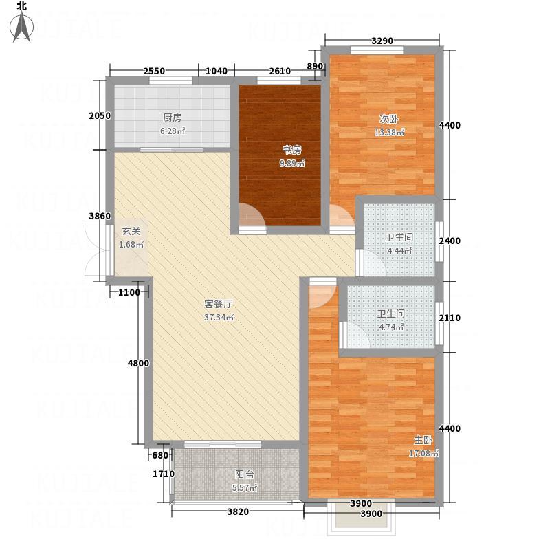 润城・公园印象134.78㎡9jpg户型3室2厅2卫1厨