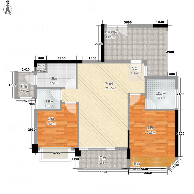 东方・比华利山庄7.18㎡9栋单张户型3室2厅2卫1厨