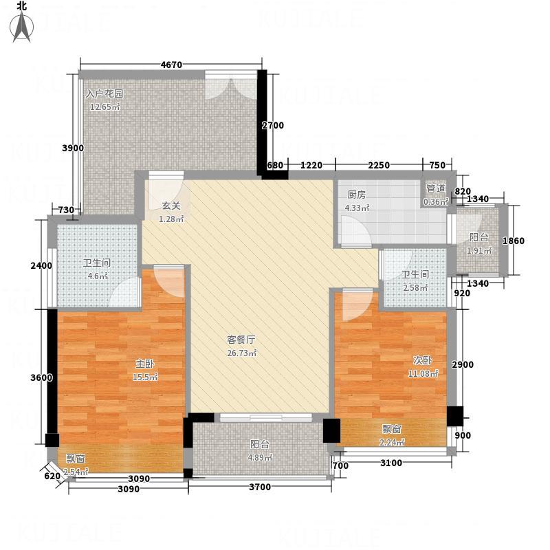 东方・比华利山庄7.34㎡9栋单张户型3室2厅2卫1厨