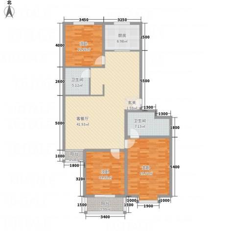 精良佳境3室1厅2卫1厨147.00㎡户型图