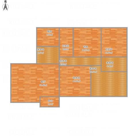 香桥郡1室1厅2卫1厨172.00㎡户型图
