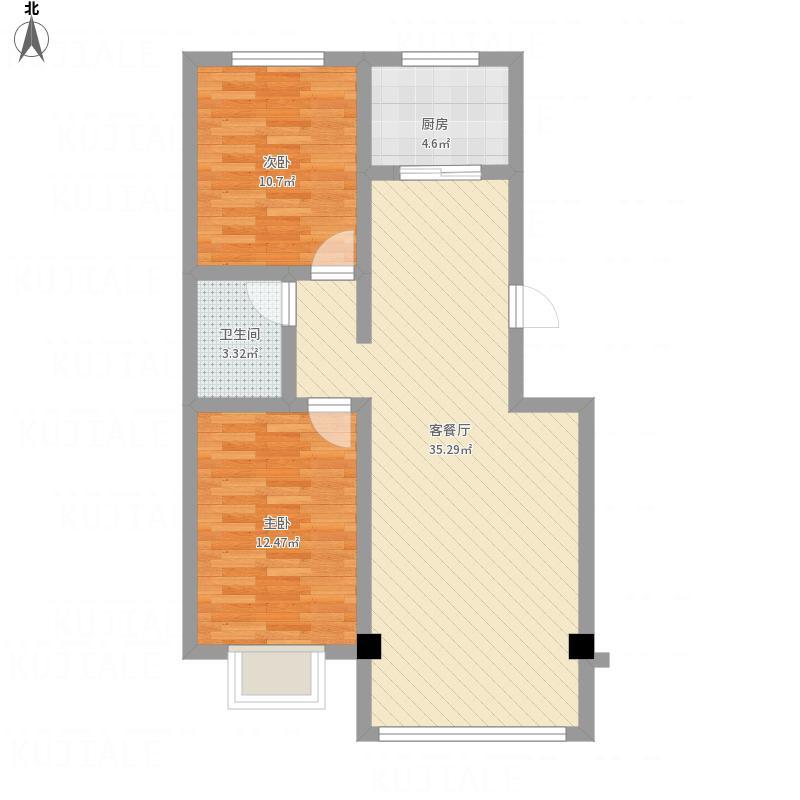 大河锦绣城89.95两室两厅