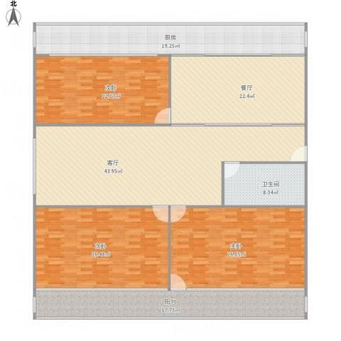 文东苑3室2厅1卫1厨248.00㎡户型图