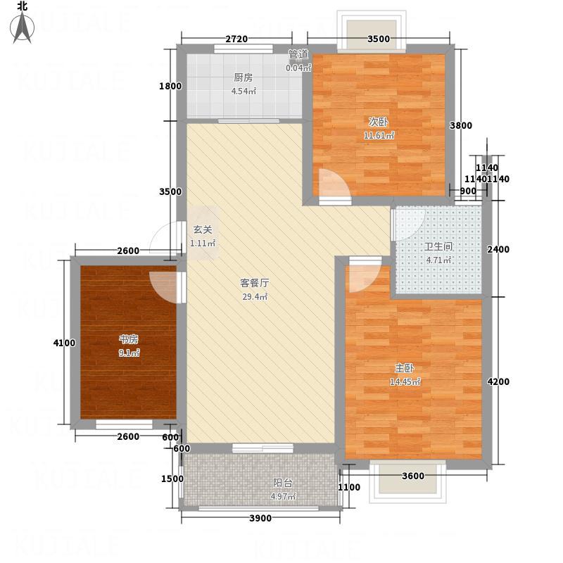 紫金名苑7.00㎡10#户型3室2厅1卫1厨