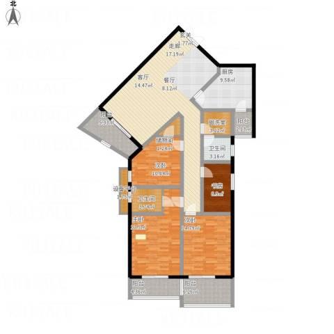 旭景碧泽园4室1厅2卫1厨193.00㎡户型图