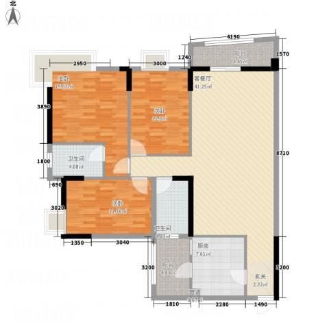 枫林水岸豪庭3室1厅2卫1厨132.00㎡户型图