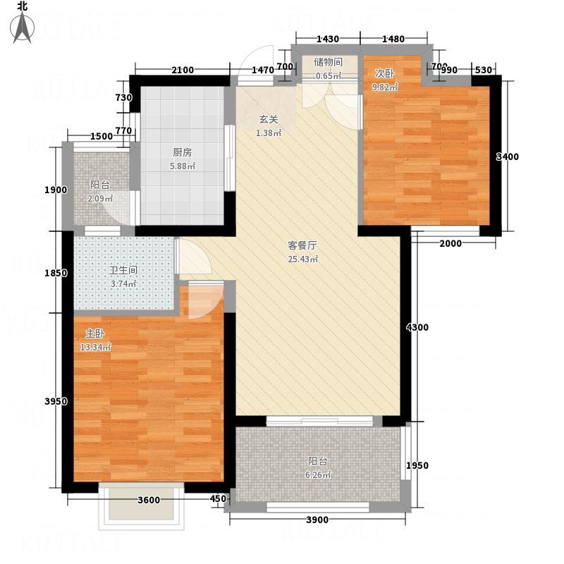 绿地・迎江世纪城一期B区1#楼02、03户型