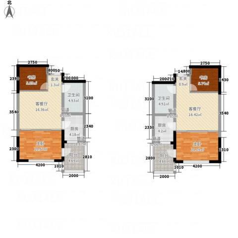 辉煌国际・海港城C区4室2厅2卫2厨93.75㎡户型图