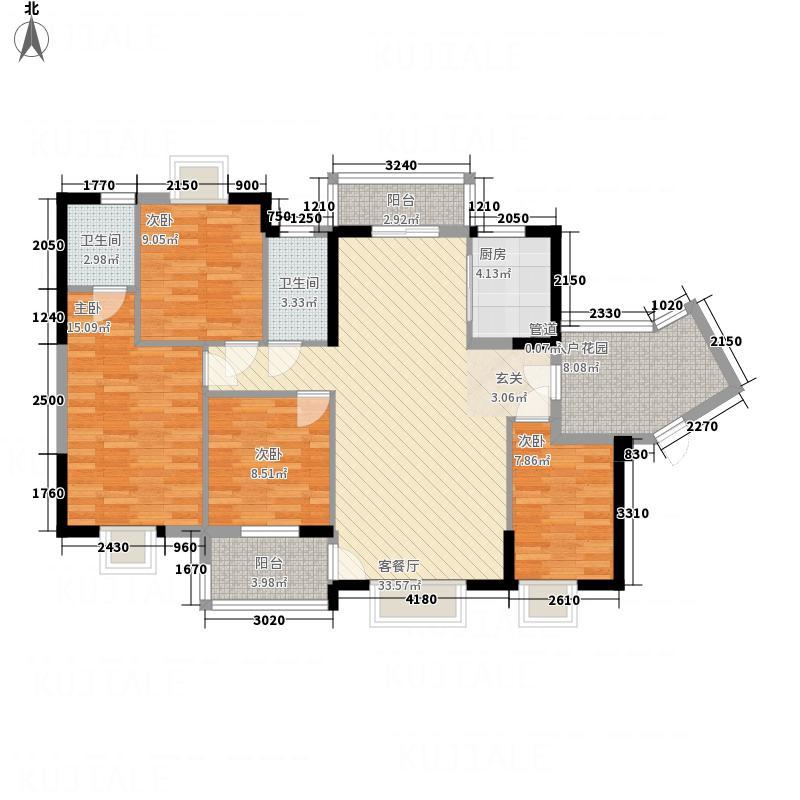 日冠东城3141.45㎡户型3室2厅2卫1厨